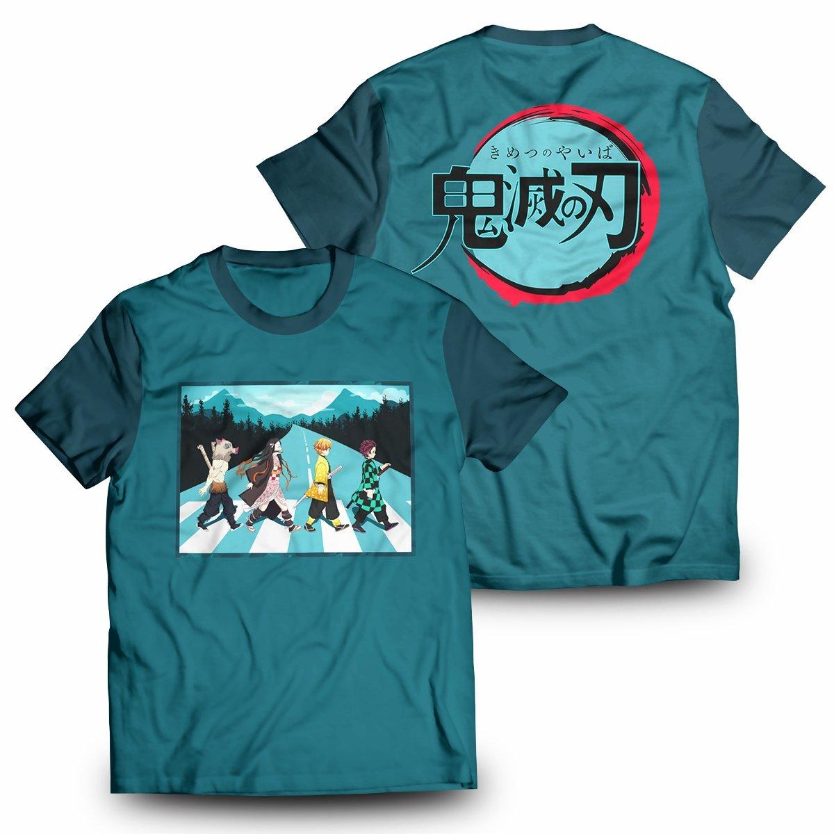 Demon Slayer Walk Unisex T-Shirt FDM2909 S Official Otaku Treat Merch