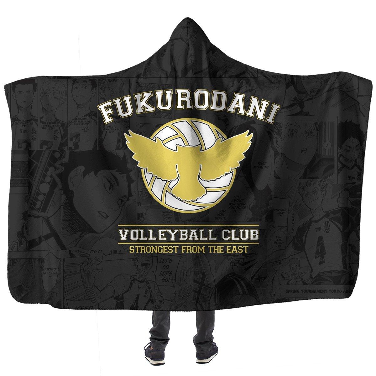 Fukurodani Volleyball Club Hooded Blanket Official Merch FDM3009 Child Official Otaku Treat Merch