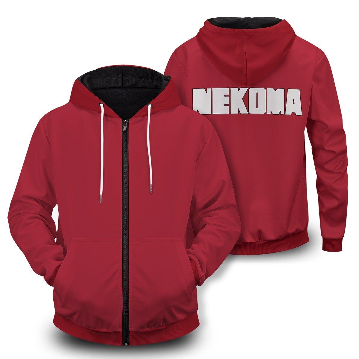 Haikyuu Nekoma High Unisex Zipped Hoodie FDM3009 S Official Otaku Treat Merch