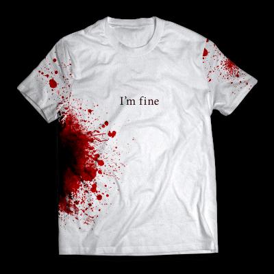 I'm fine Unisex T-Shirt FDM2909 S Official Otaku Treat Merch