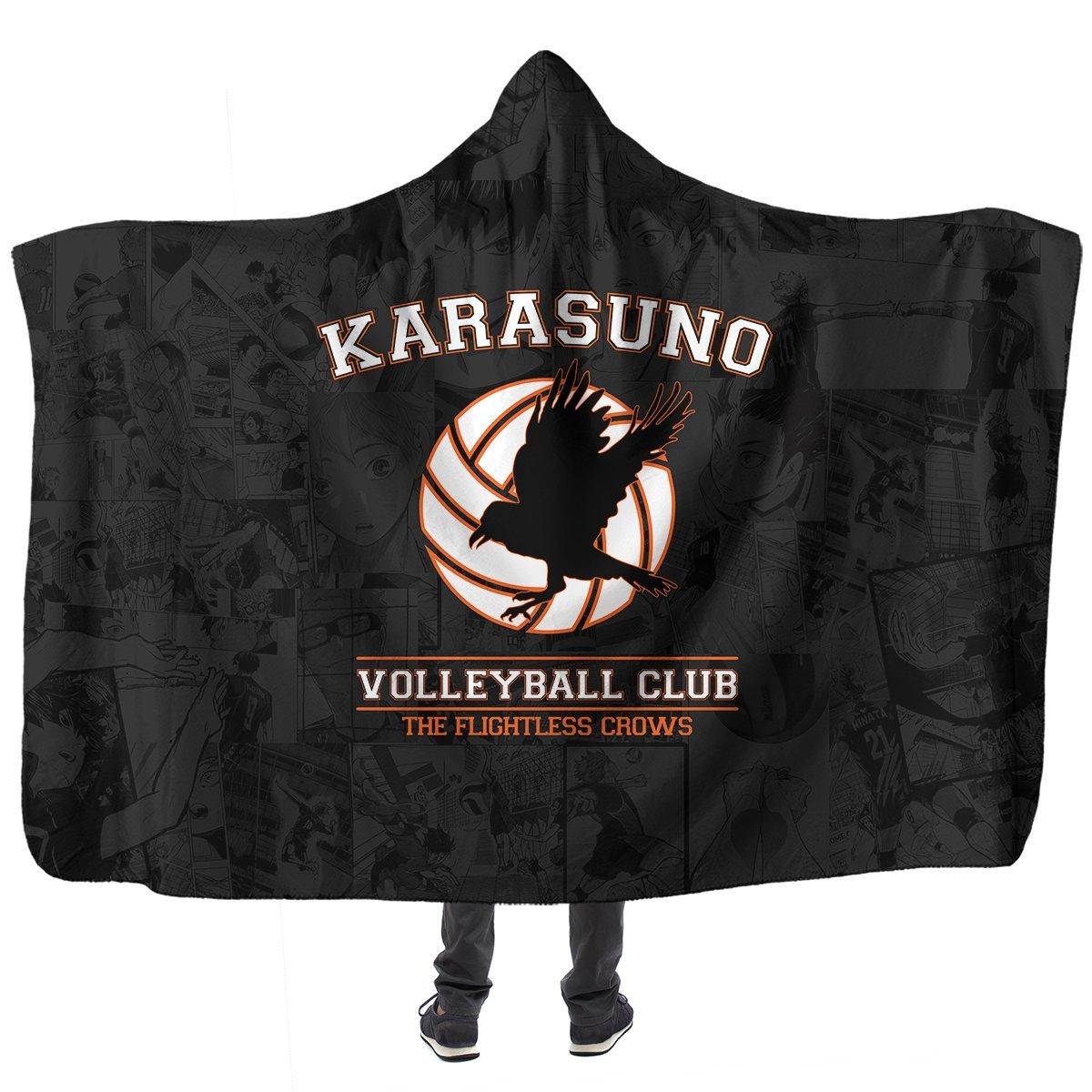 Karasuno Volleyball Club Hooded Blanket Official Merch FDM3009 Child Official Otaku Treat Merch
