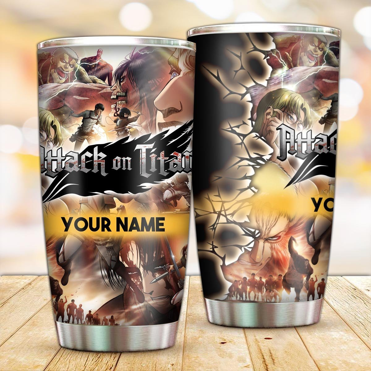 Personalized Attack on Titan All In Tumbler FDM3009 Default Title Official Otaku Treat Merch