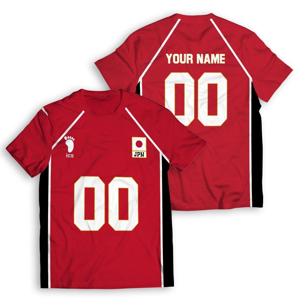 Personalized Haikyuu National Team Unisex T-Shirt FDM2909 S Official Otaku Treat Merch