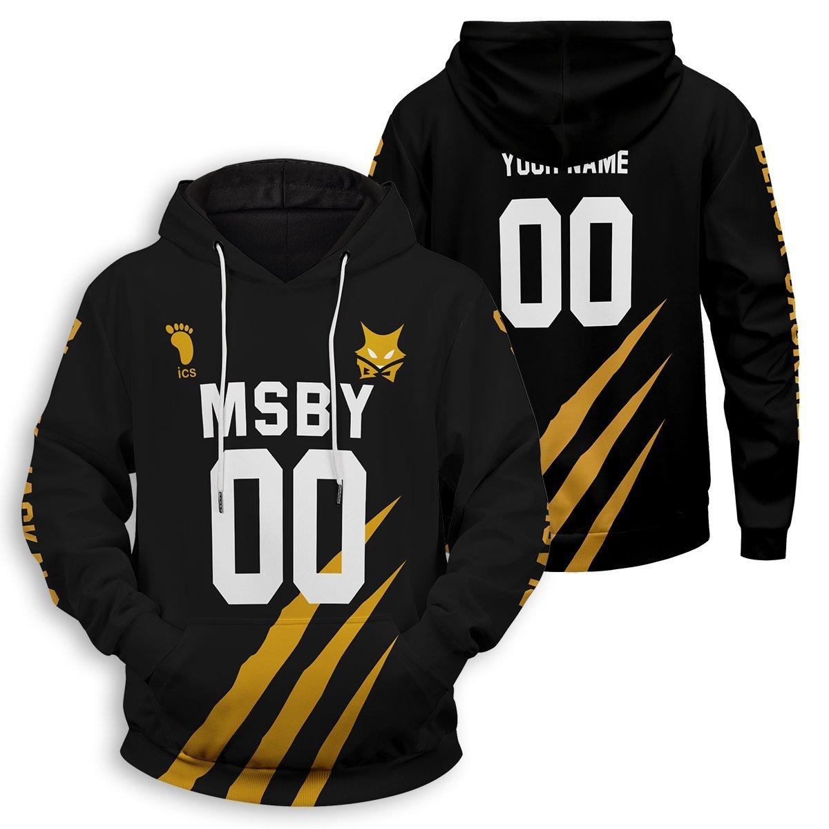 Personalized MSBY Black Jackals Unisex Pullover Hoodie FDM3009 S Official Otaku Treat Merch