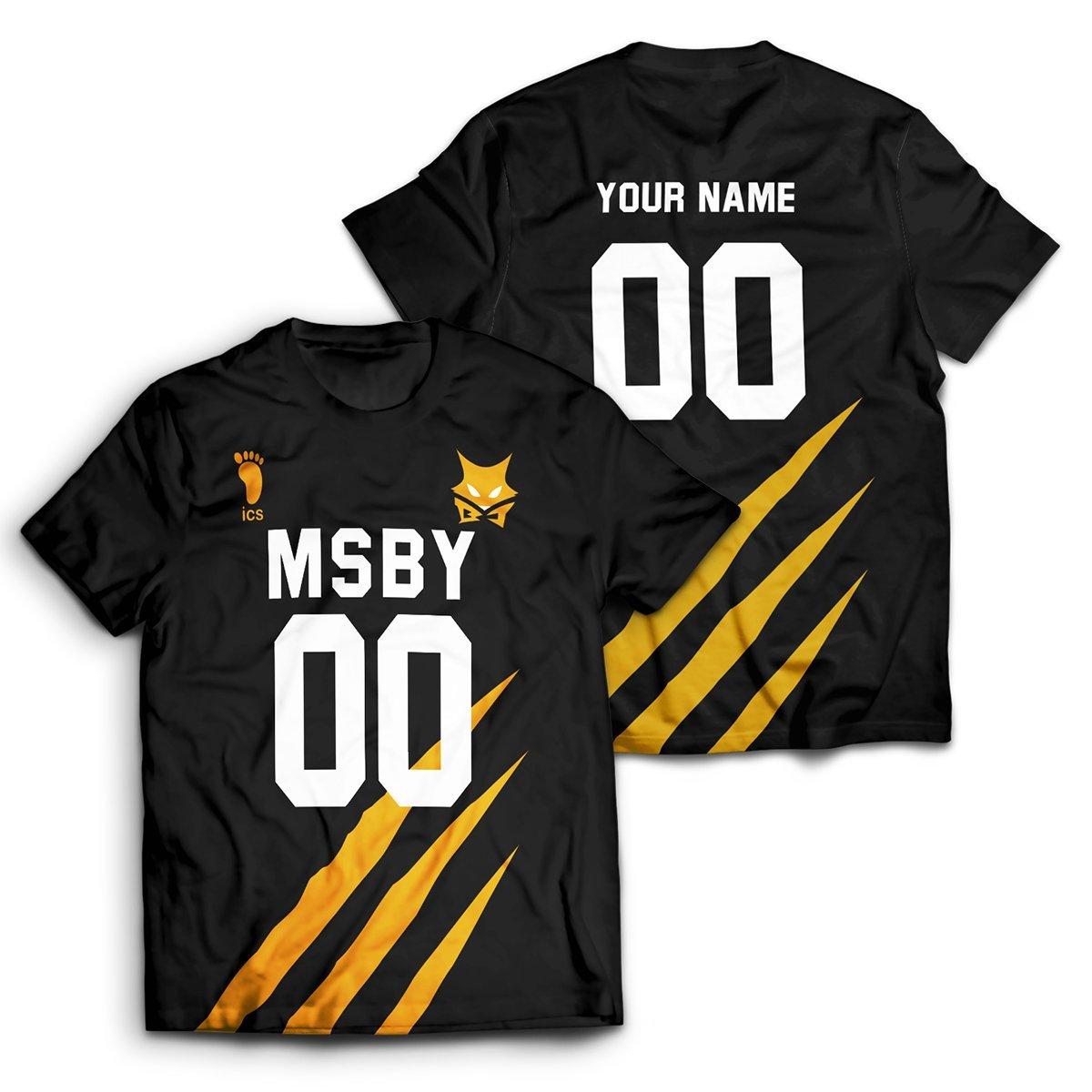 Personalized MSBY Black Jackals Unisex T-Shirt FDM2909 S Official Otaku Treat Merch
