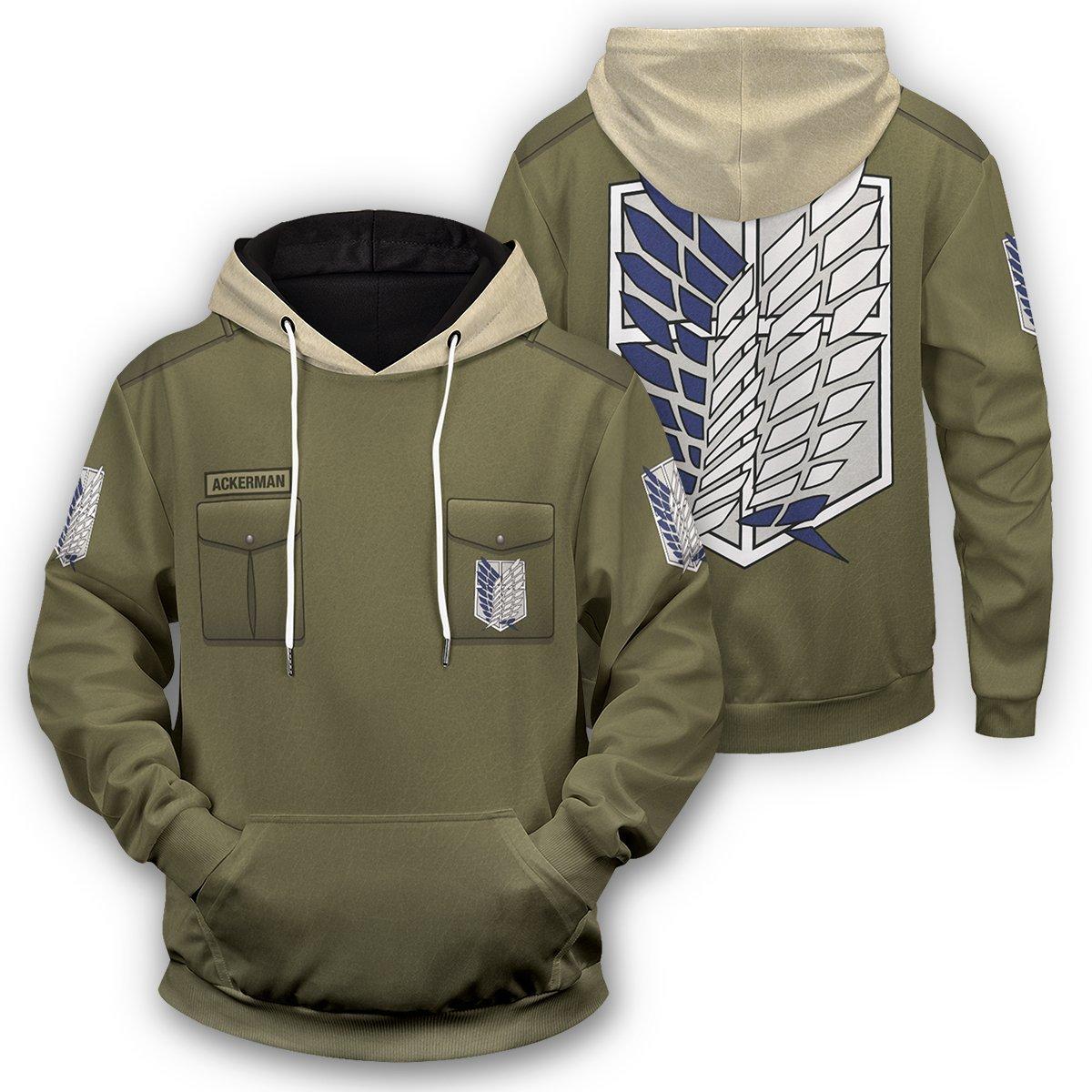 Personalized New Survey Corps Uniform Unisex Pullover Hoodie FDM3009 S Official Otaku Treat Merch