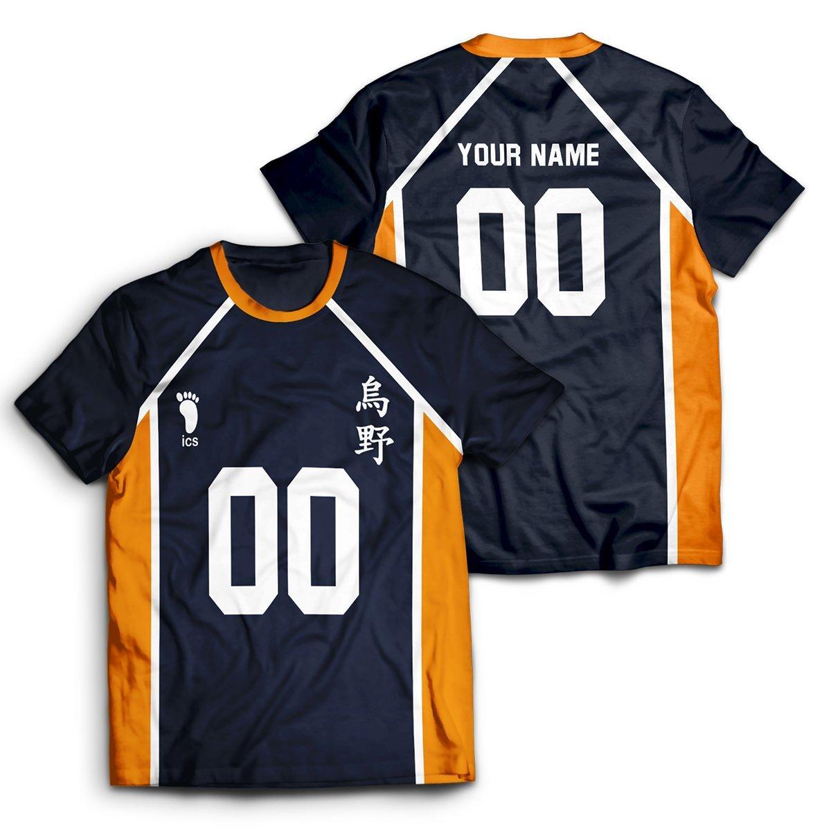 Personalized Team Karasuno Unisex T-Shirt FDM2909 S Official Otaku Treat Merch