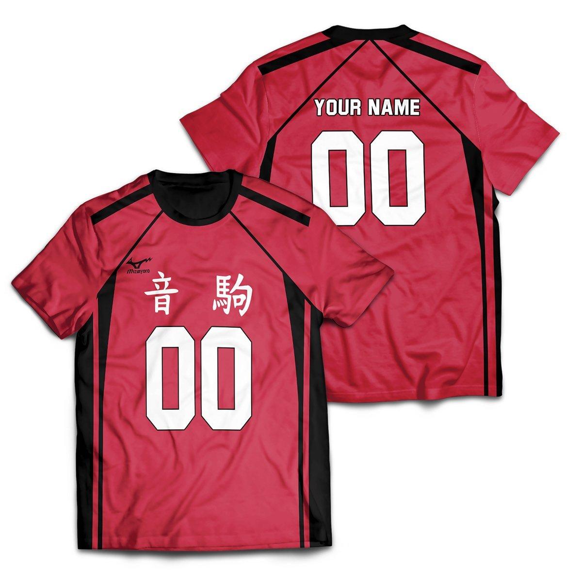Personalized Team Nekoma Unisex T-Shirt FDM2909 S Official Otaku Treat Merch