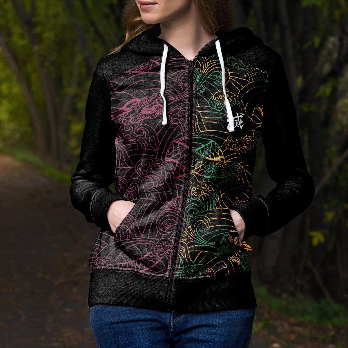 personalized tomioka giyu unisex zipped hoodie 542523 - Otaku Treat