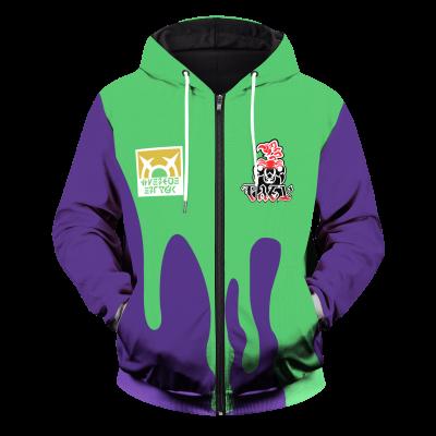 Pokemon Poison Uniform Unisex Zipped Hoodie FDM3009 S Official Otaku Treat Merch