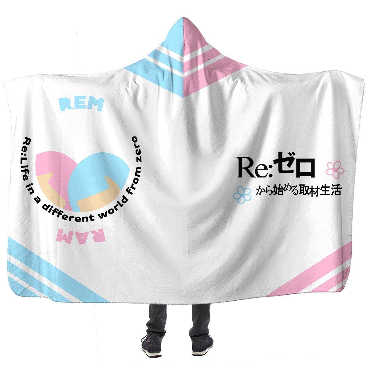 Re: Zero Rem Ram Hooded Blanket Official Merch FDM3009 Child Official Otaku Treat Merch