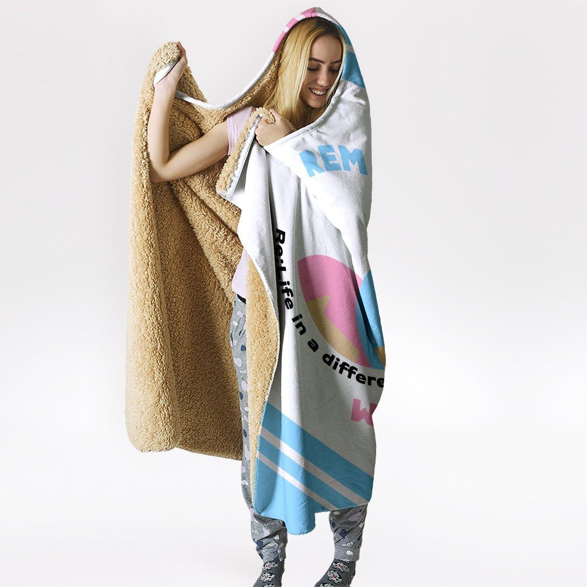 re zero rem ram hooded blanket 384571 - Otaku Treat
