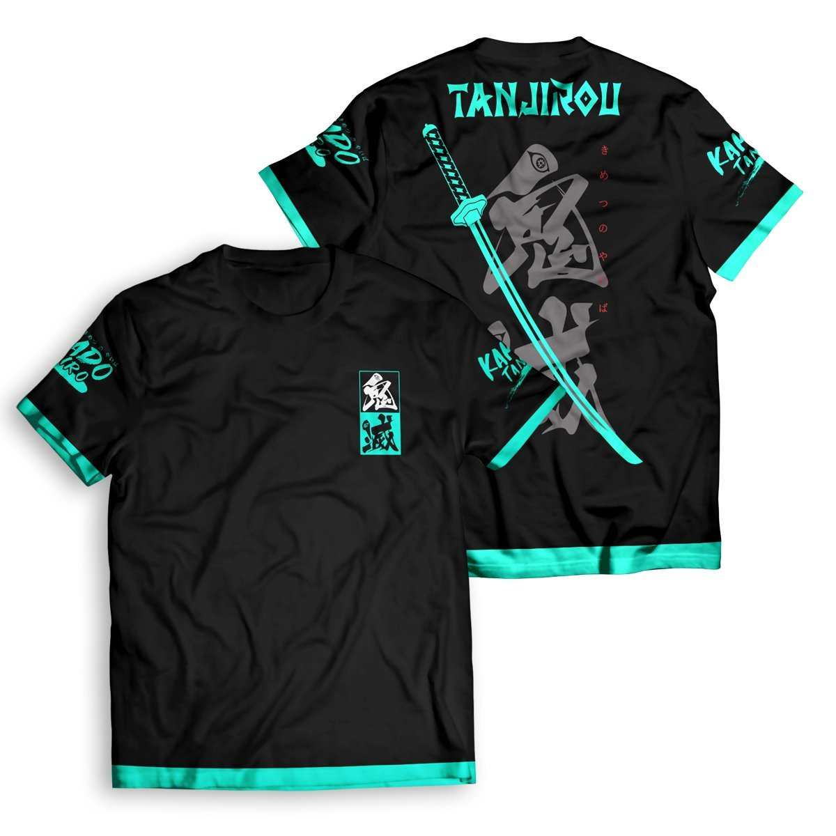 Tanjiro Style Unisex T-Shirt FDM2909 S Official Otaku Treat Merch