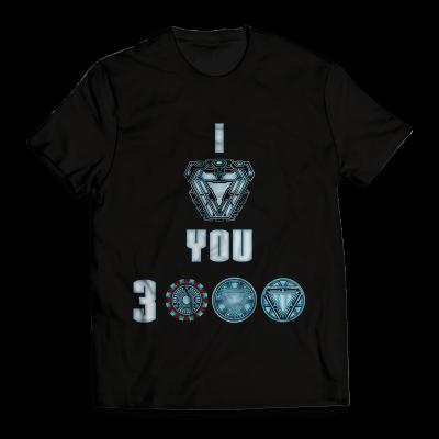 Tony Stark Love You 3000 Limited Edition Glow in the Dark T-Shirt FDM2909 S Official Otaku Treat Merch
