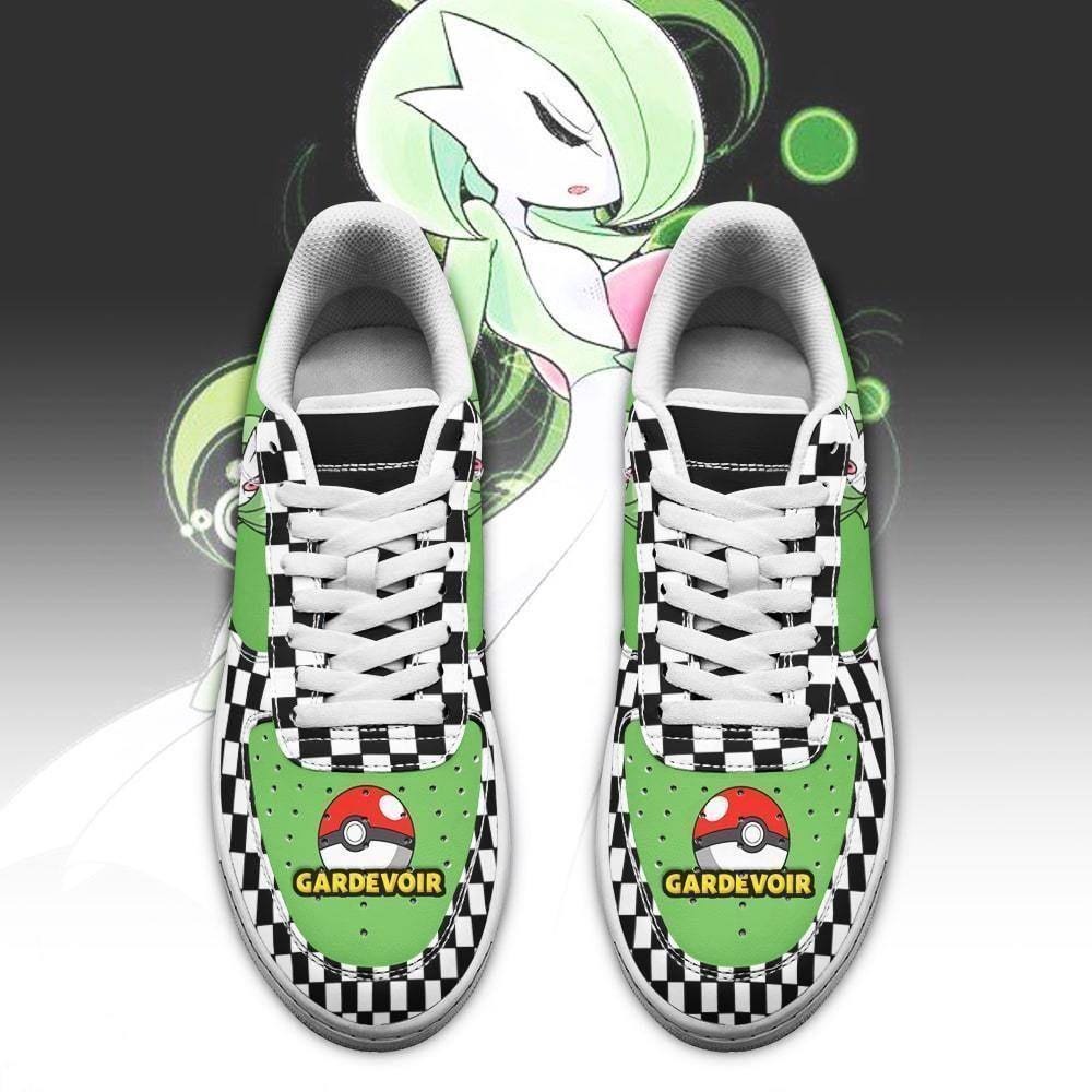 Poke Gardevoir Air Shoes Checkerboard Custom Pokemon Shoes GO1012