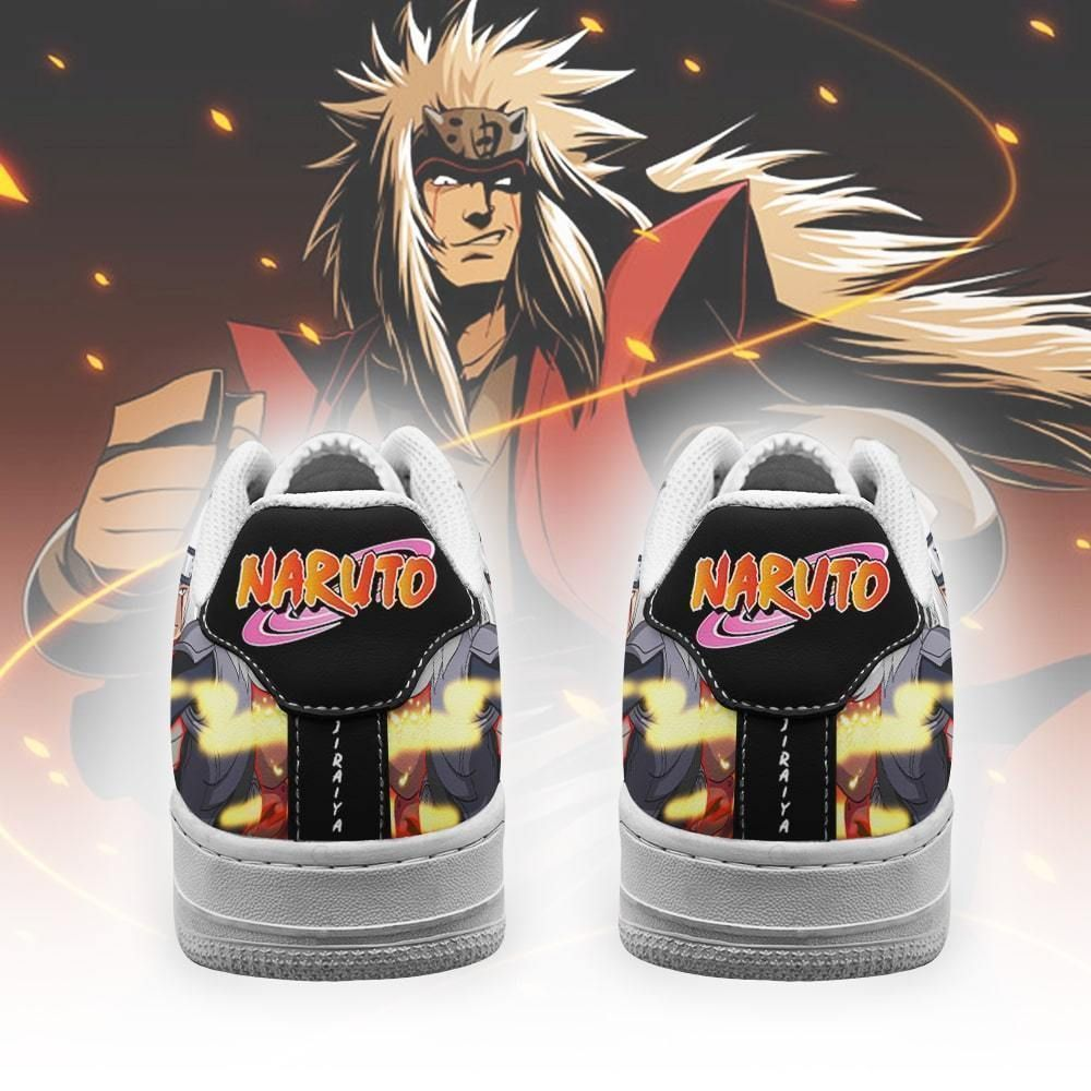 Naruto Jiraiya Air Shoes Custom Naruto Anime Shoes Leather GO1012