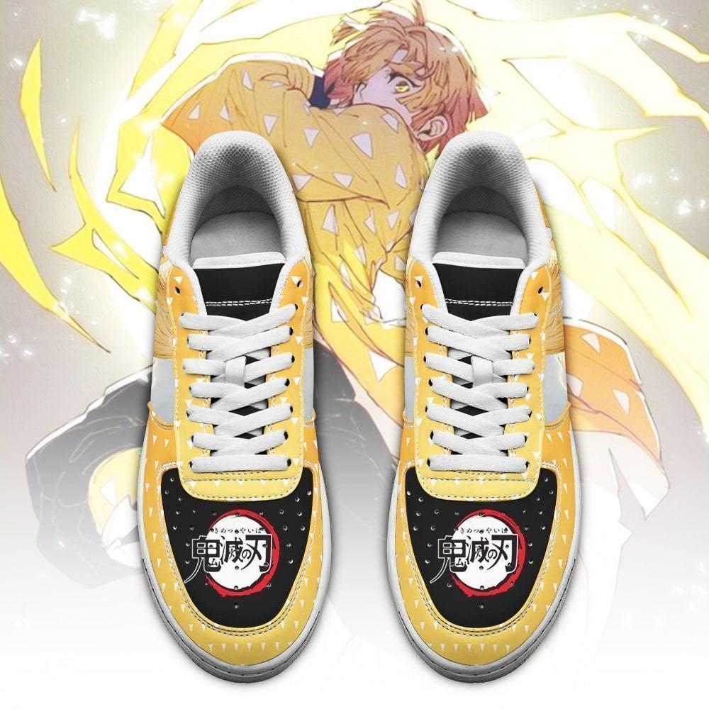 Zenitsu Air Shoes Demon Slayer Anime Shoes Fan Gift Idea GO1012