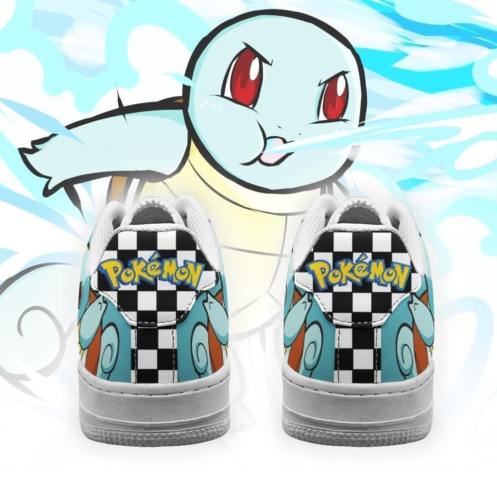 Poke Squirtle Air Shoes Checkerboard Custom Pokemon Shoes GO1012
