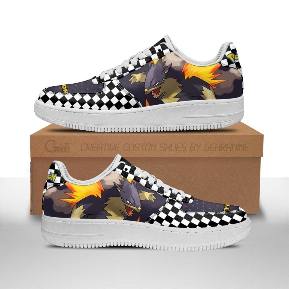 Poke Typhlosion Air Shoes Checkerboard Custom Pokemon Shoes GO1012