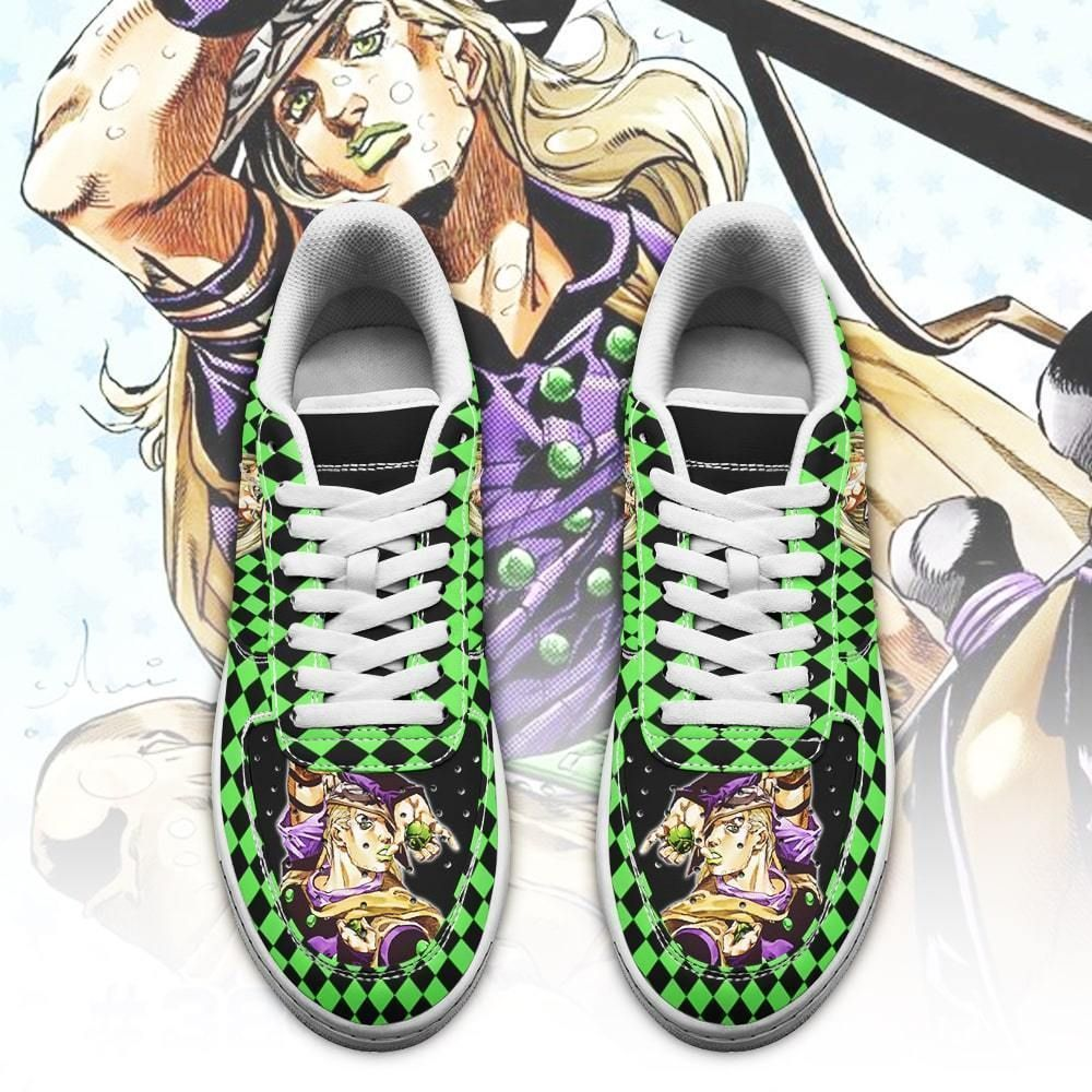 Gyro Zeppeli Air Shoes Custom JoJo's Anime Shoes Fan Gift Idea GO1012