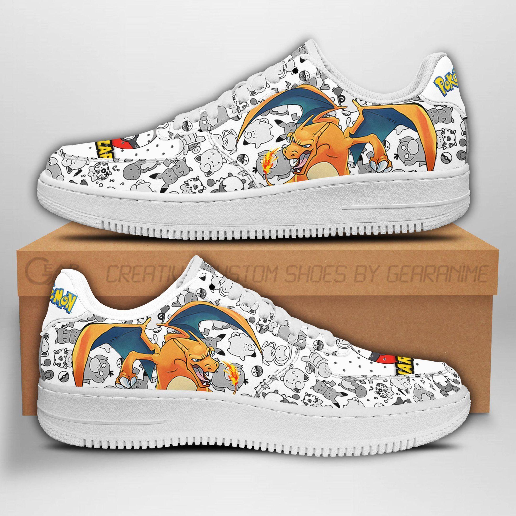 Charizard Air Shoes Pokemon Shoes Fan Gift Idea GO1012
