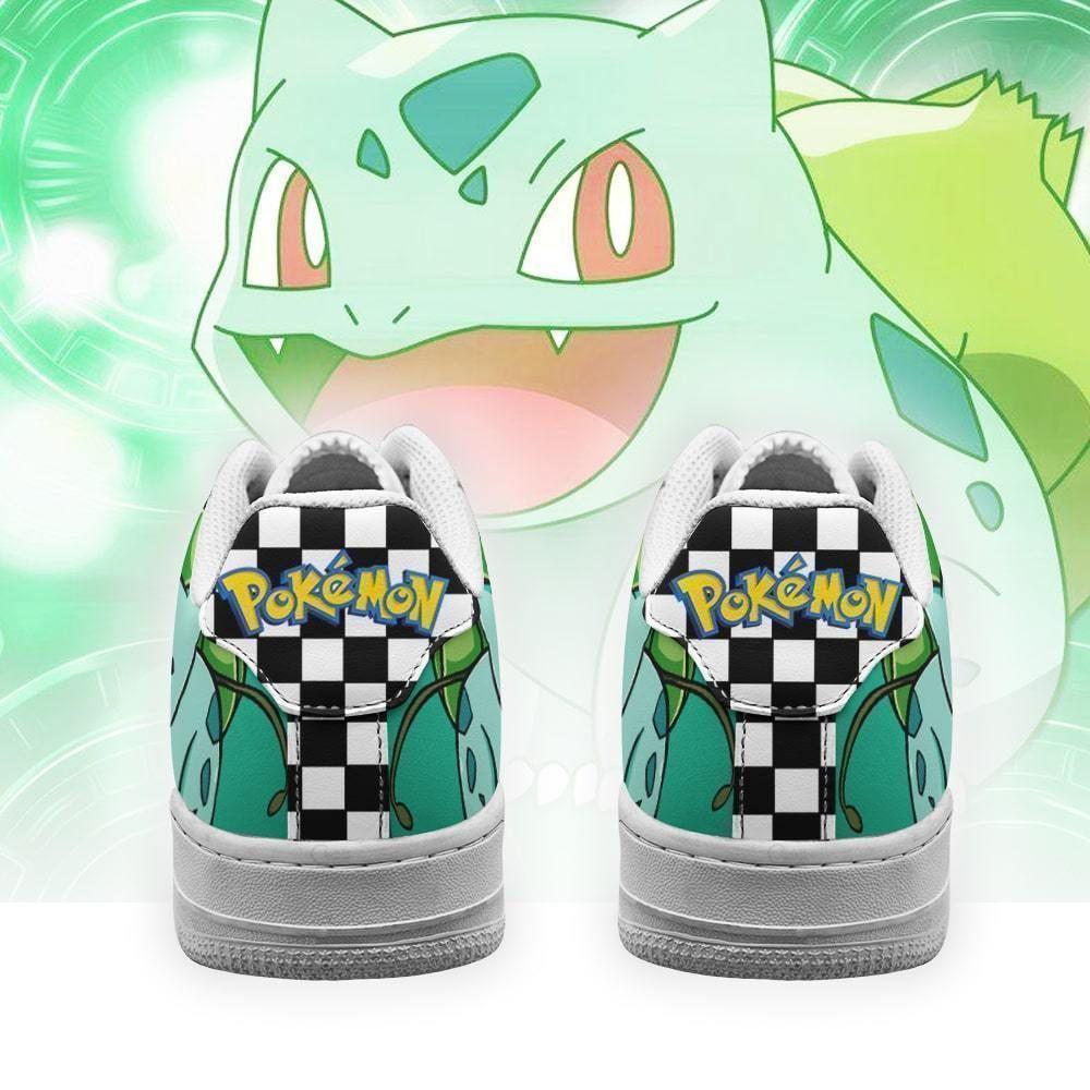 Poke Bulbasaur Air Shoes Checkerboard Custom Pokemon Shoes GO1012