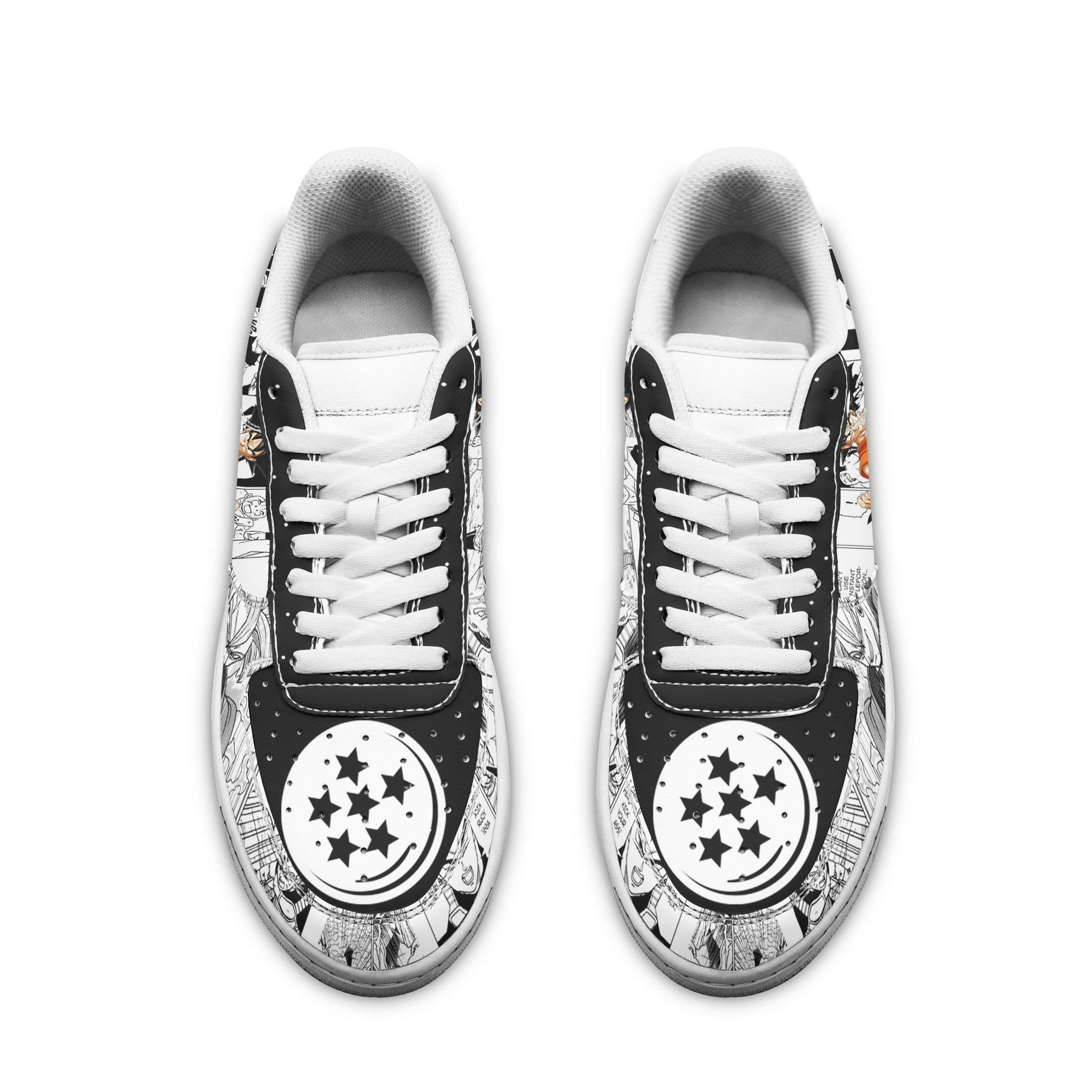 Dragon Ball Air Sneakers Custom Mixed Manga Anime Shoes GO1012