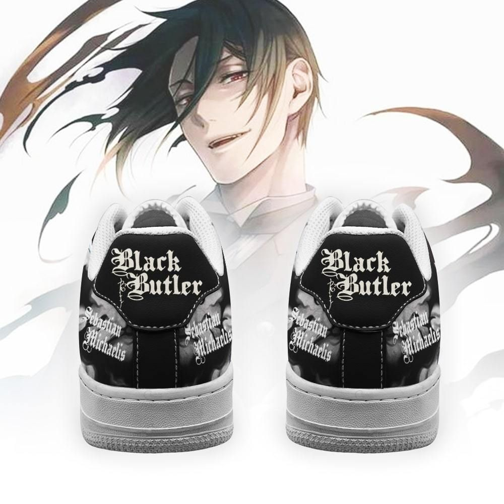 Black Butler Shoes Sebastian Michaelis Air Shoes Anime Shoes GO1012