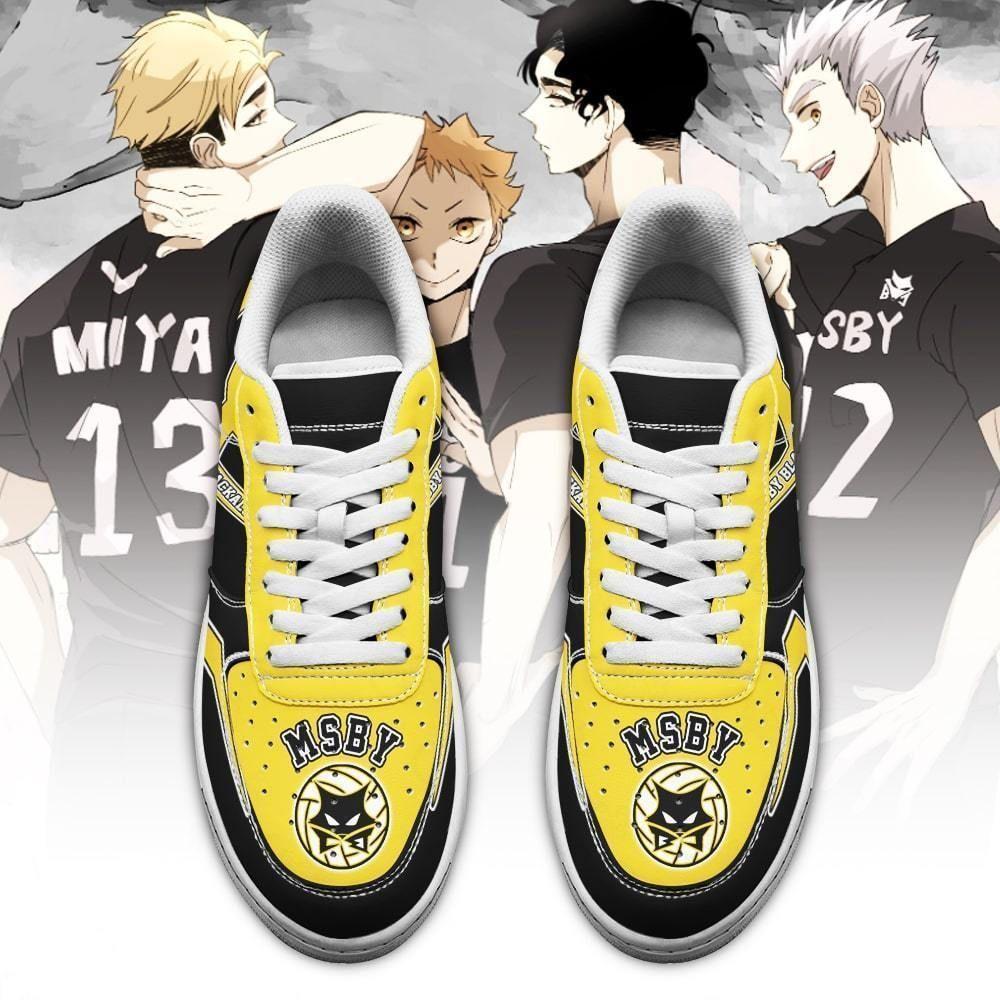 Haikyuu MSBY Black Jackals Air Shoes Uniform Haikyuu Anime Shoes GO1012