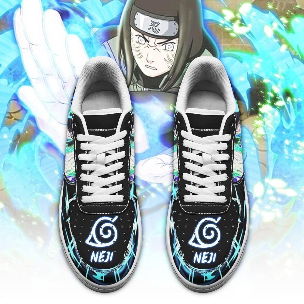 Neji Hyuga Air Shoes Custom Naruto Anime Shoes Leather GO1012