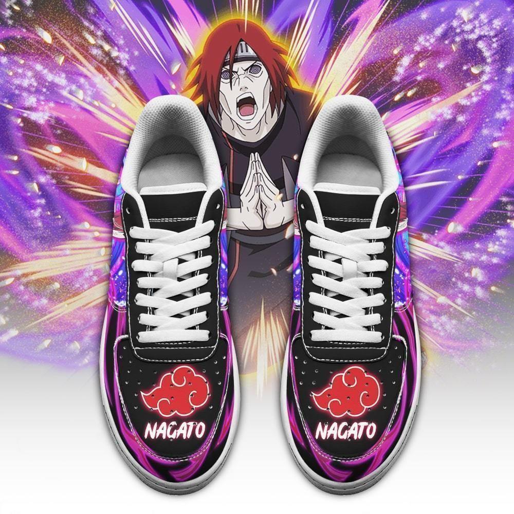Nagato Air Shoes Custom Naruto Anime Shoes Leather GO1012