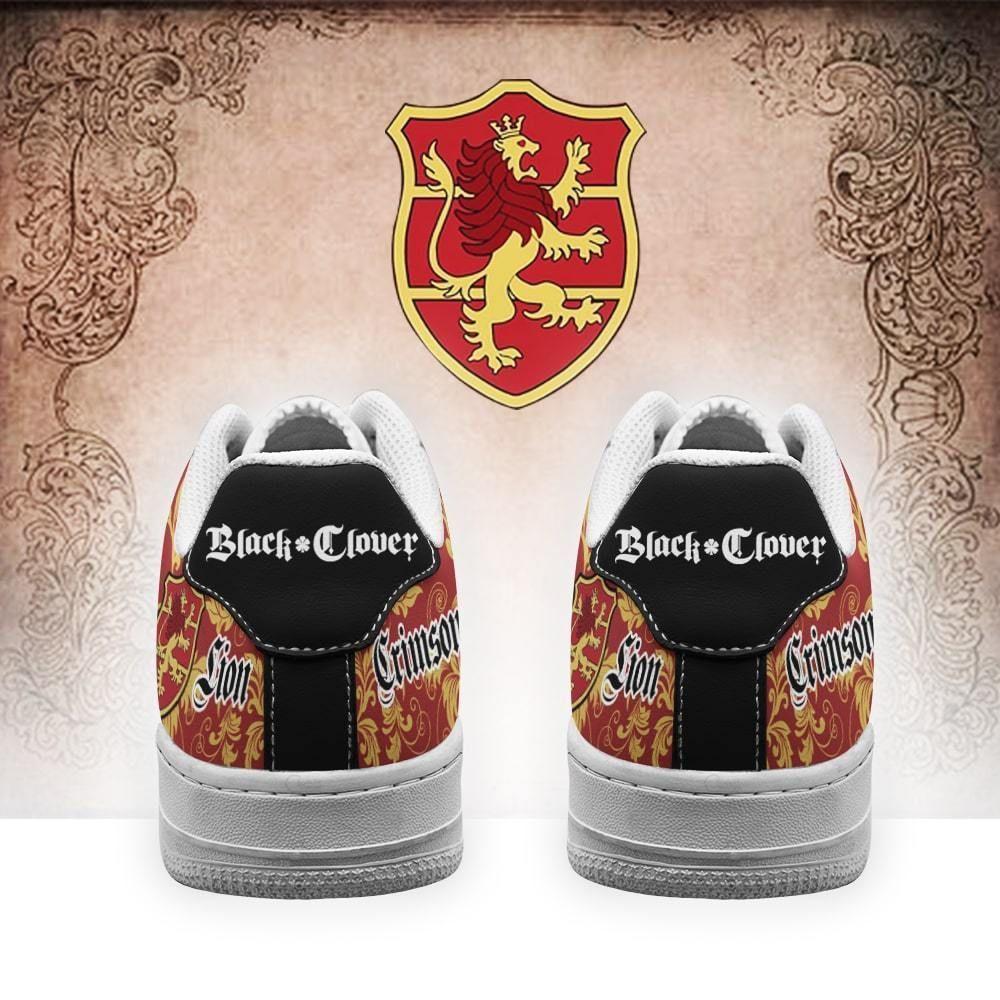 Black Clover Shoes Magic Knights Squad Crimson Lion Air Shoes Anime GO1012
