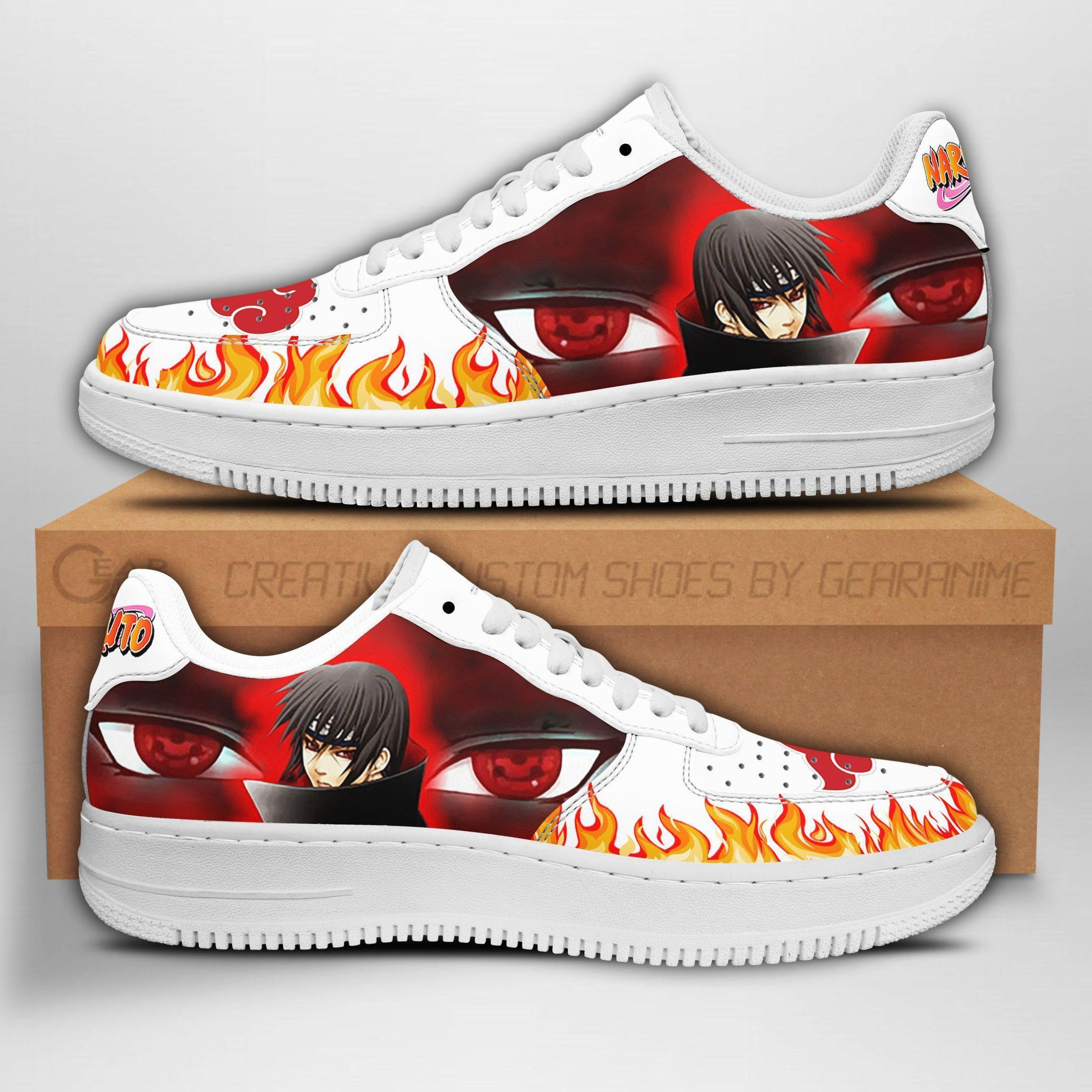 Itachi Eyes Air Shoes Naruto Anime Shoes Fan Gift GO1012
