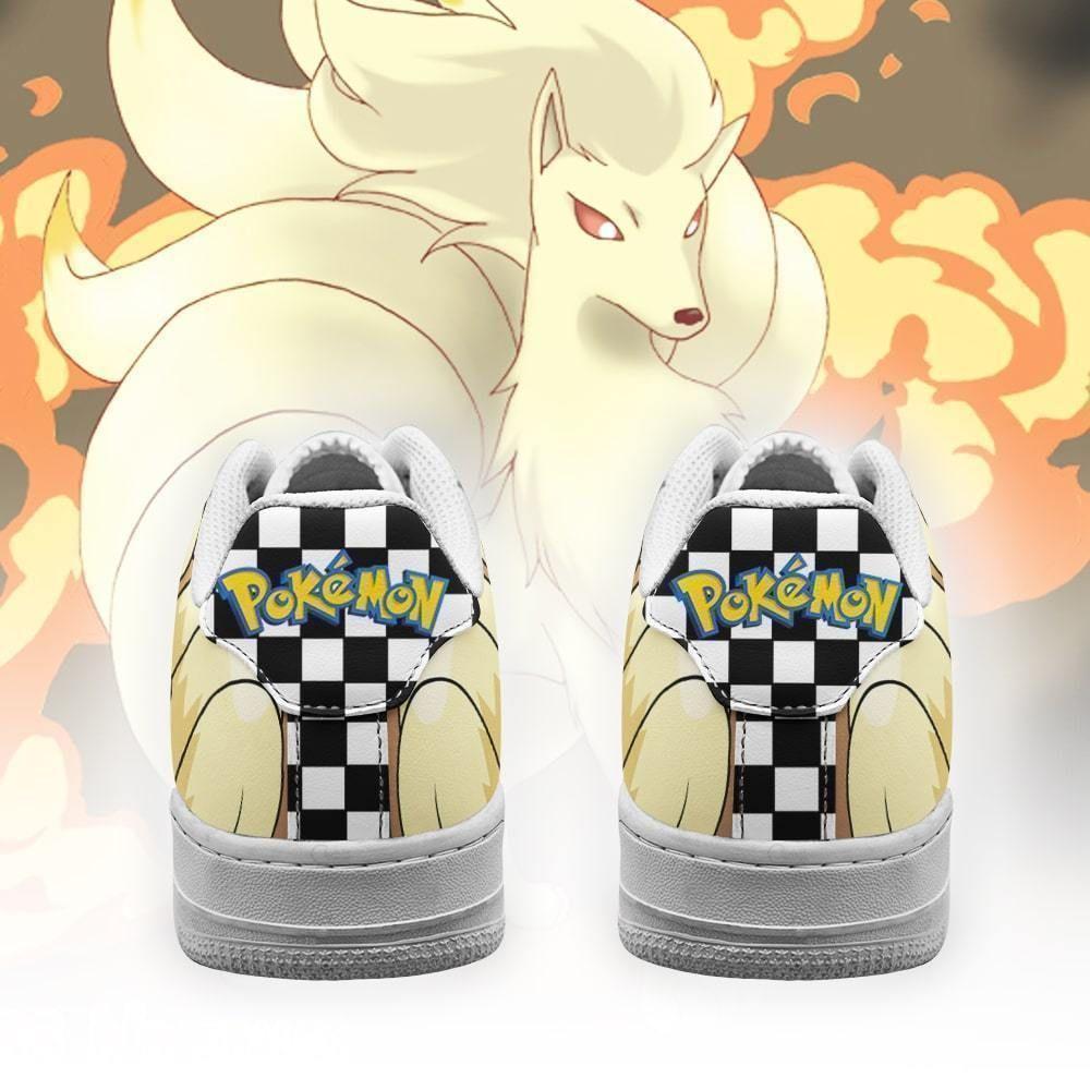 Poke Ninetales Air Shoes Checkerboard Custom Pokemon Shoes GO1012