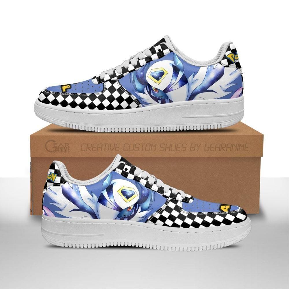 Poke Absol Air Shoes Checkerboard Custom Pokemon Shoes GO1012