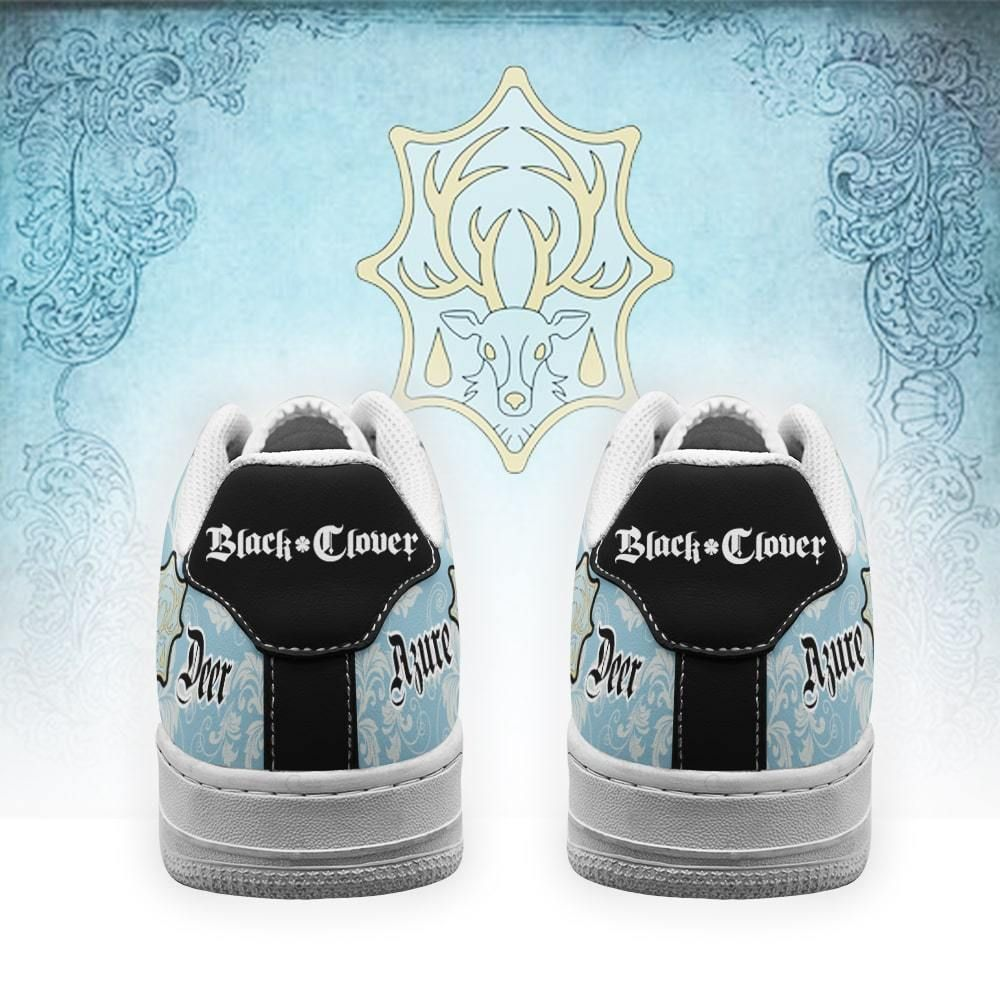 Black Clover Shoes Magic Knights Squad Azure Deer Air Shoes Anime GO1012