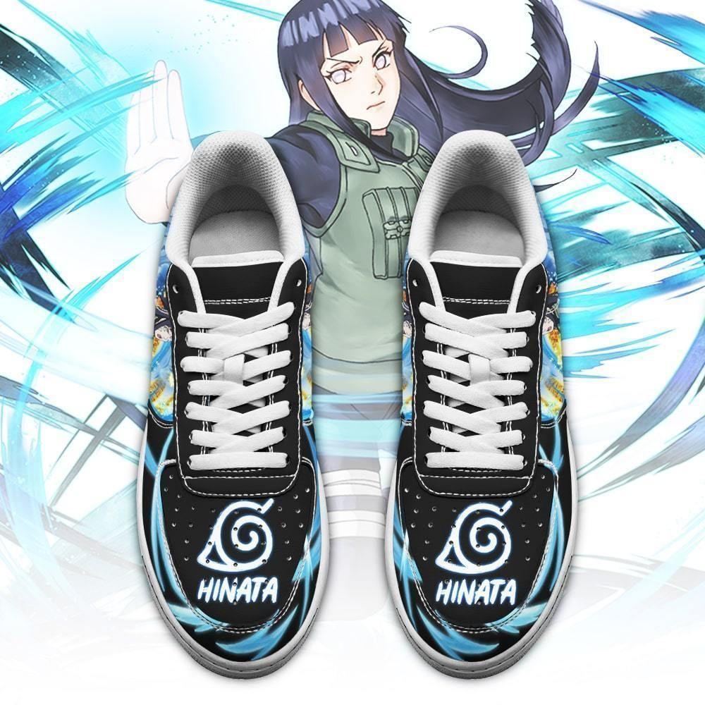 Hinata Hyuga Air Shoes Custom Naruto Anime Shoes Leather GO1012