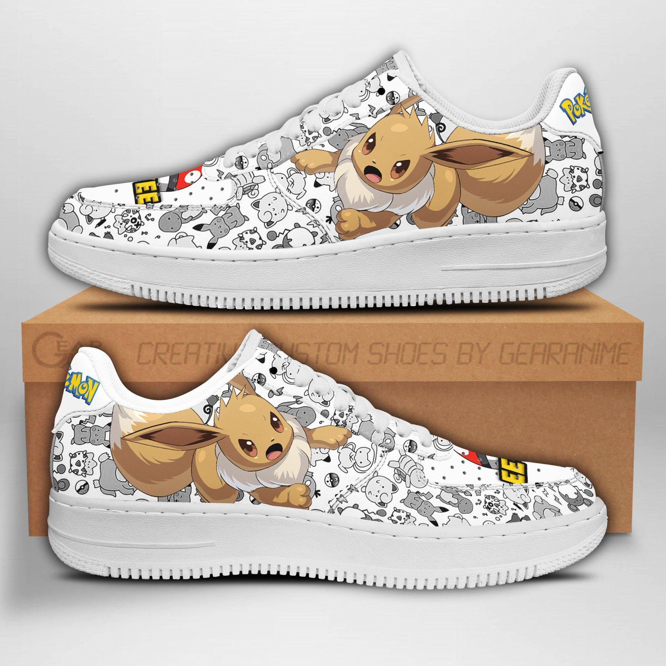 Eevee Air Shoes Pokemon Shoes Fan Gift Idea GO1012