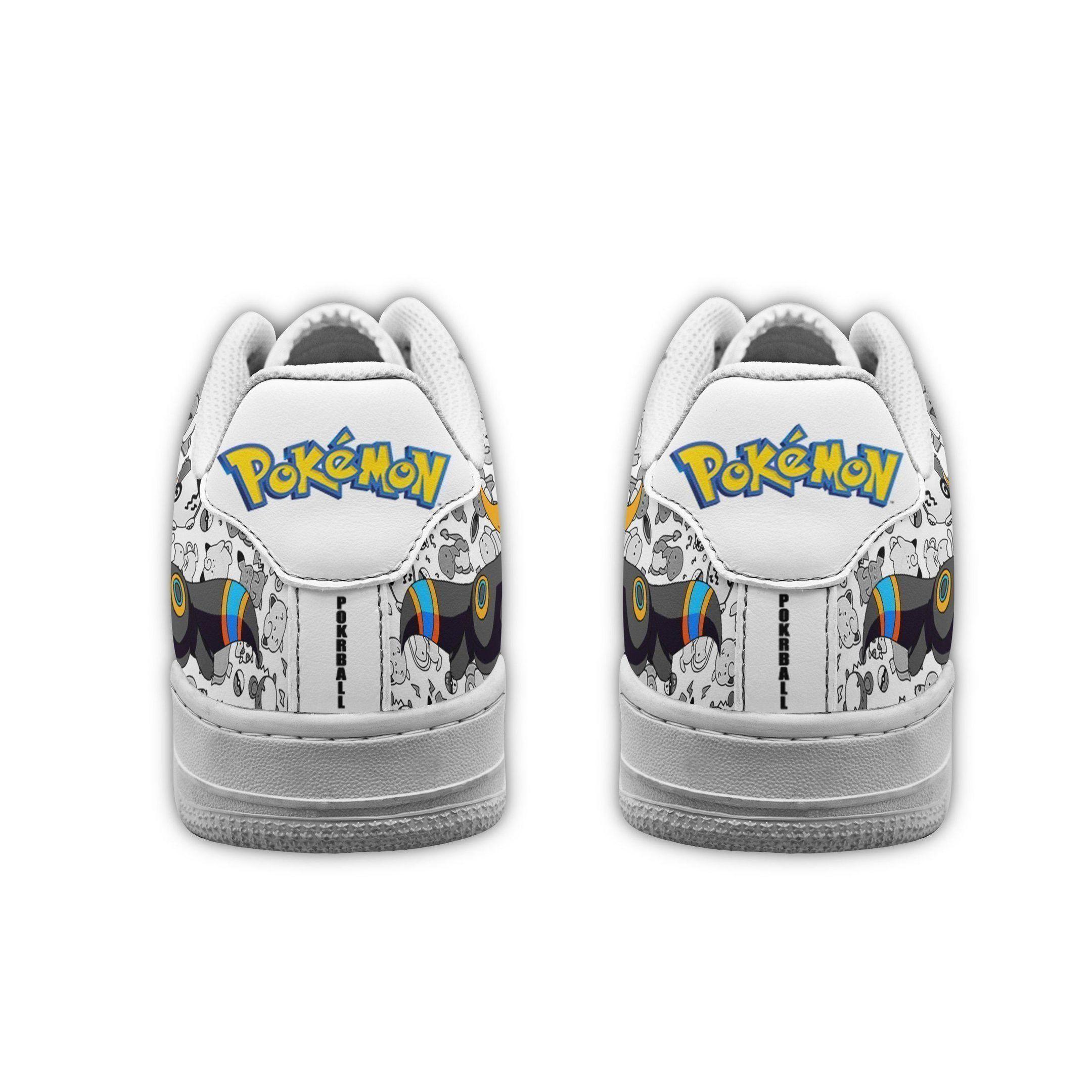 Umbreon Air Shoes Pokemon Shoes Fan Gift Idea GO1012