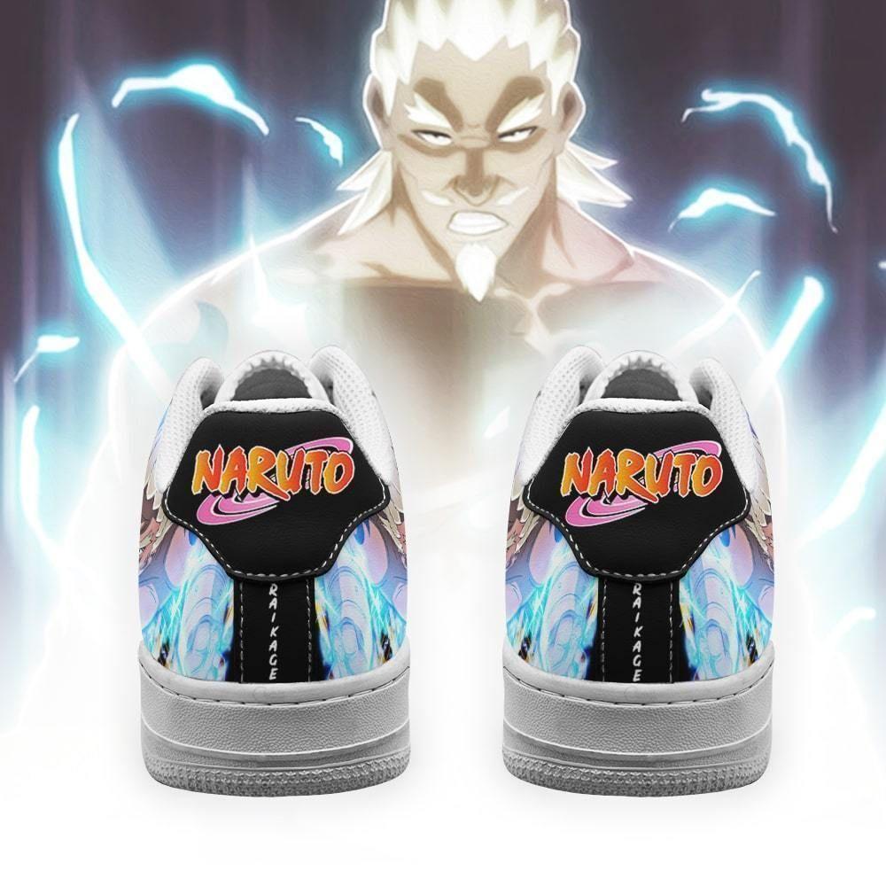 Fouth Raikage Air Shoes Custom Naruto Anime Shoes Leather GO1012