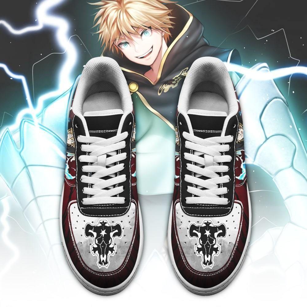 Luck Voltia Air Shoes Black Bull Knight Black Clover Anime Shoes GO1012