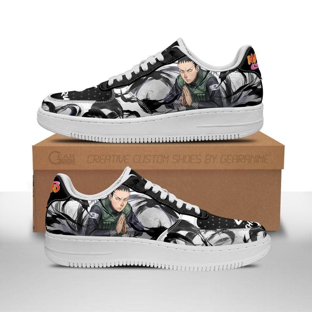 Shikamaru Air Shoes Custom Naruto Anime Shoes Leather GO1012