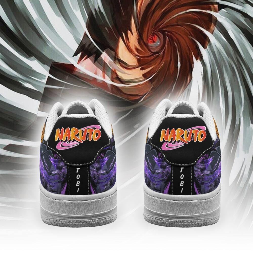 Akatsuki Tobi Air Shoes Custom Naruto Anime Shoes Leather GO1012