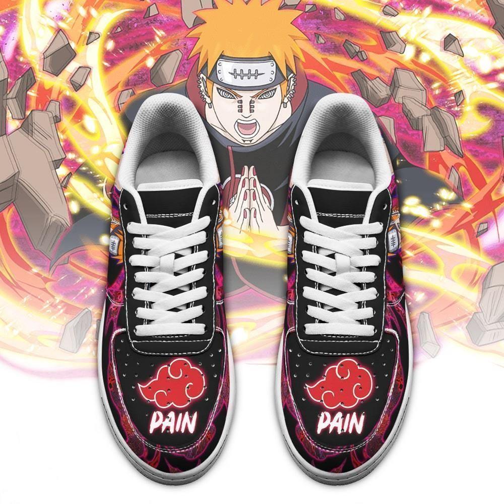 Akatsuki Pain Air Shoes Custom Naruto Anime Shoes Leather GO1012