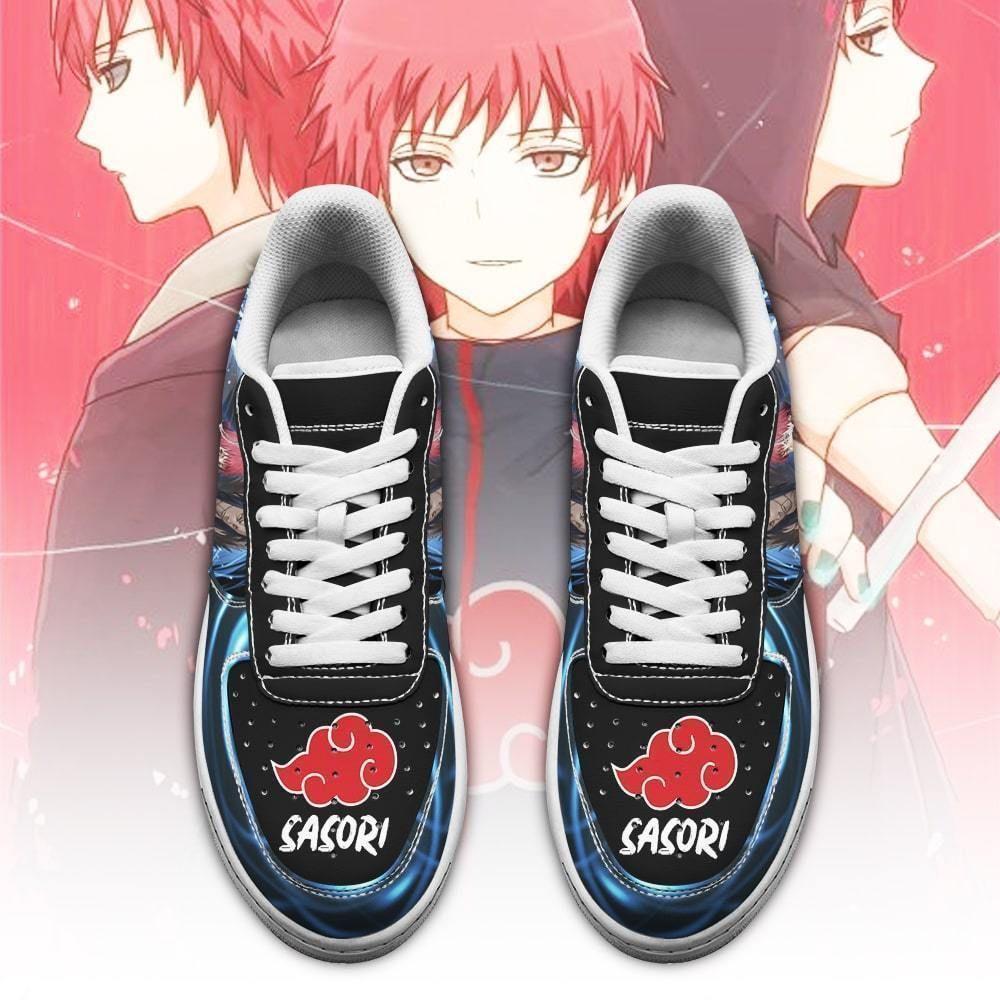 Naruto Sasori Air Shoes Custom Naruto Anime Shoes Leather GO1012