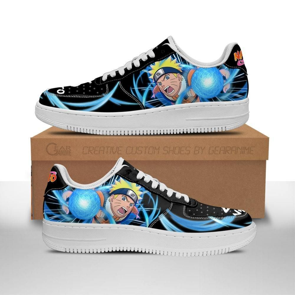Naruto Air Shoes Custom Skill Shoes Naruto Anime Shoes Leather GO1012