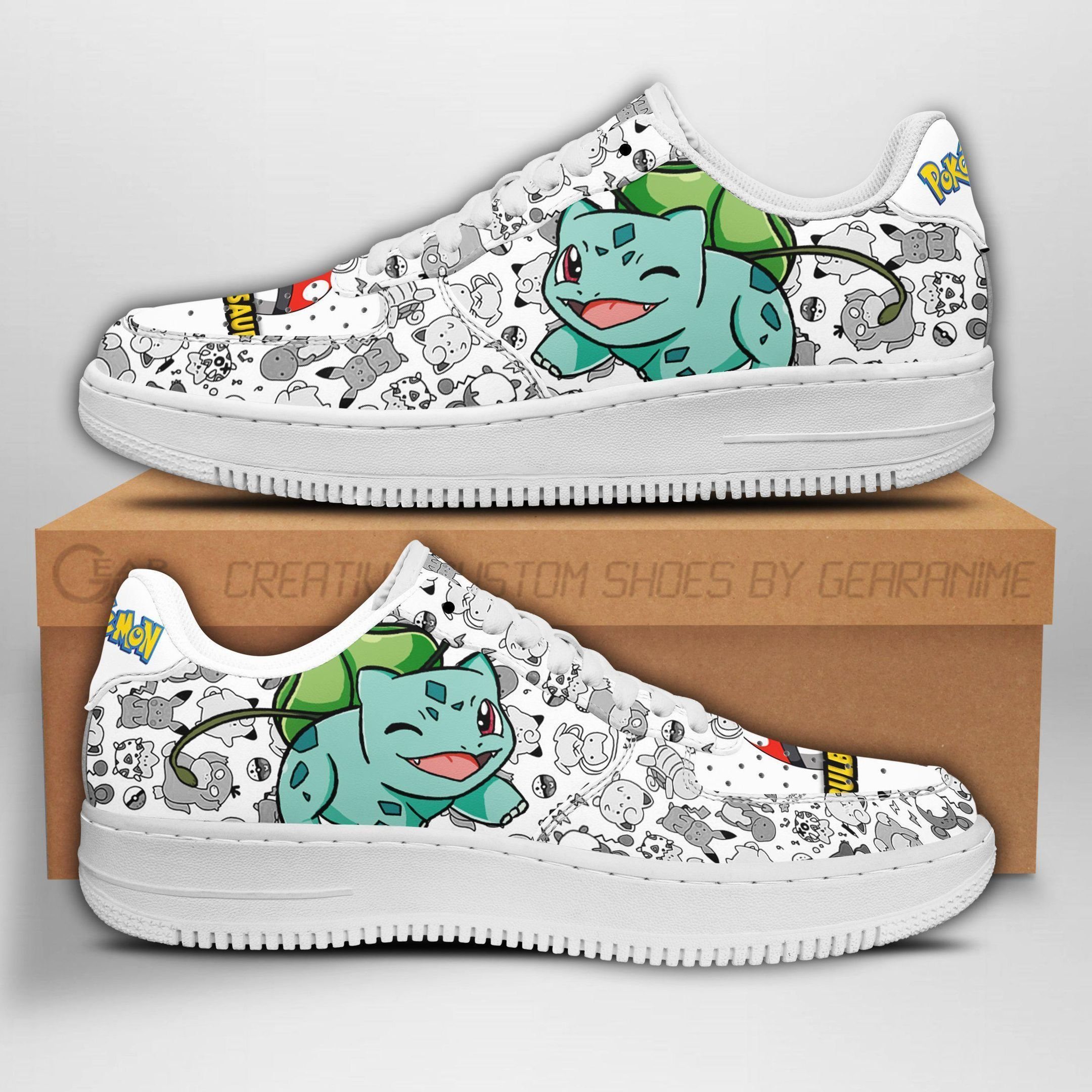 Bulbasaur Air Shoes Pokemon Shoes Fan Gift Idea GO1012