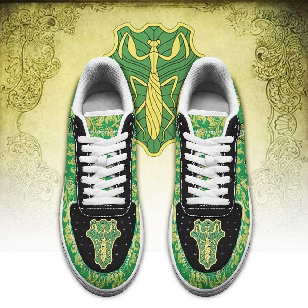 Black Clover Shoes Magic Knights Squad Green Mantis Air Shoes Anime GO1012