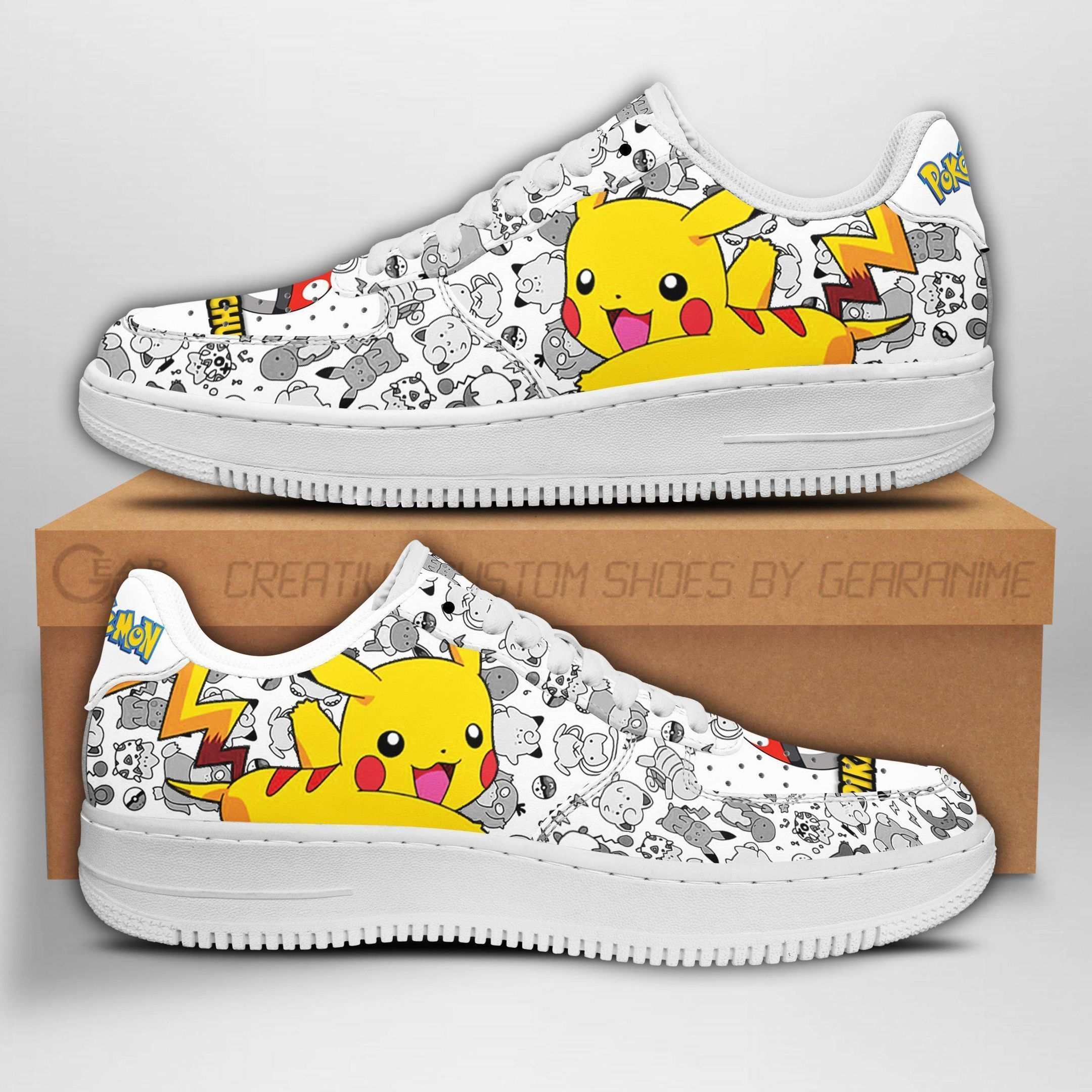 Pikachu Air Shoes Pokemon Shoes Fan Gift Idea GO1012