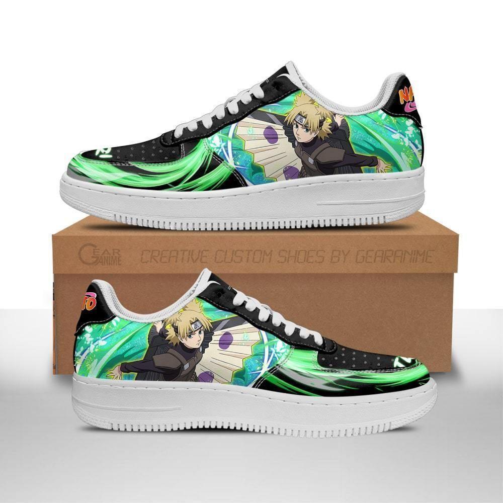 Naruto Temari Air Shoes Custom Naruto Anime Shoes Leather GO1012